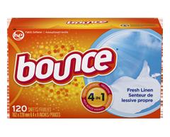 Image du produit Bounce - Feuilles assouplissantes, 120 unités, Lessive propre