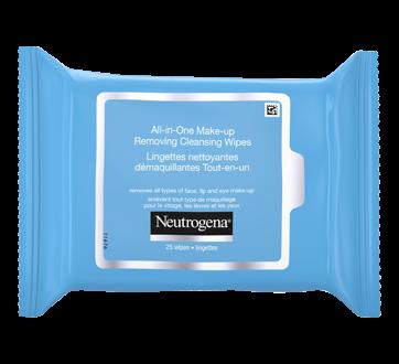 Image 8 du produit Neutrogena - Lingettes nettoyantes démaquillantes tout-en-un, 25 unités