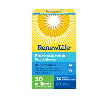 Image du produit Renew Life - Flore suprême probiotiques soins intensifs, 20 unités