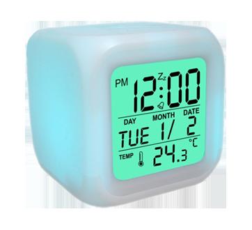 Horloge réveil numérique avec changement de couleurs, 1 unité