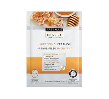 Masque-tissu hydratant, 25 ml, miel de manuka et collagène