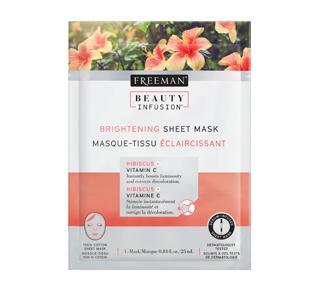 Masque-tissu éclaircissant, 25 ml, hibiscus et vitamine C