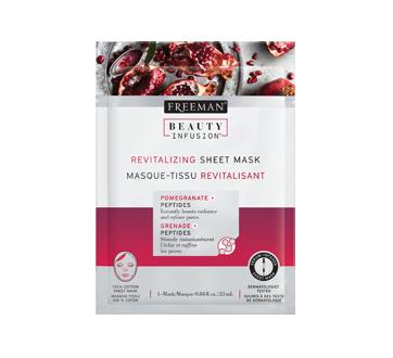 Masque-tissu revitalisant, 25 ml, grenade et peptides
