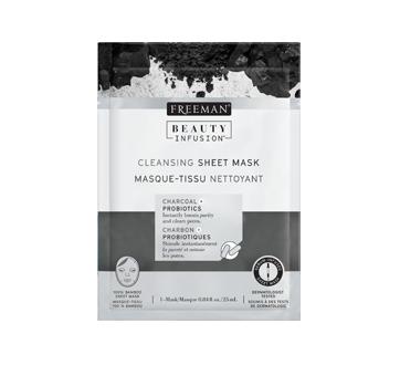 Masque-tissu nettoyant, 25 ml, charbon et probiotiques