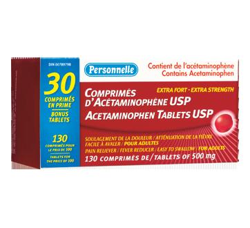 Image du produit Personnelle - Acétaminophène extra fort, 100 unités