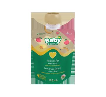 Plus 3g protéines nourriture biologique pour bébés, 128 ml, bananes, figues, avoine et yogourt grec