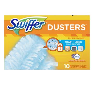 Swiffer Duster180 multi-surfaces recharges, 10 unités, parfum lavande vanillée et réconfort de Febreze