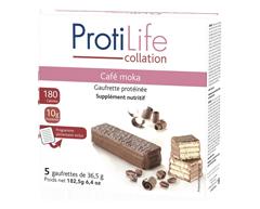 Image du produit ProtiLife - Gauffrette protéinée, 5 unités, café moka