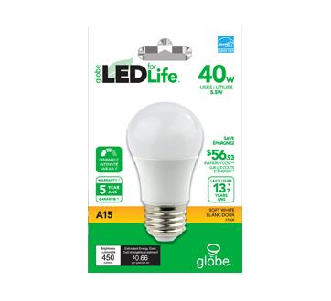 Image 2 du produit Globe Electric - Globe ampoule DEL 40W A15, 1 unité, blanc doux