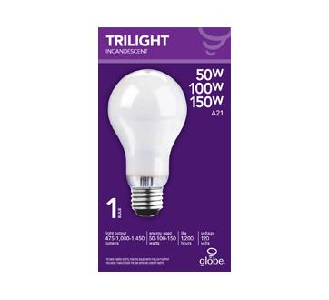 Globe ampoule incandescente à 3 intensités, 1 unité