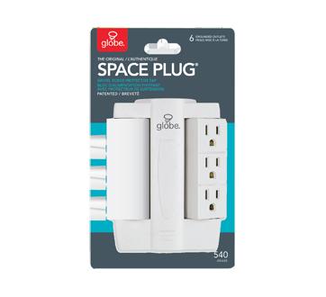 Space Plug bloc d'alimentation pivotant avec protecteur de surtension, 1 unité