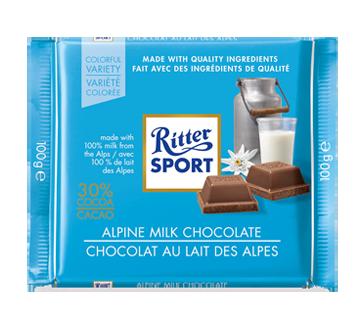 Chocolat au lait des Alpes, 100 g