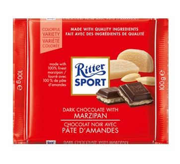 Chocolat noir avec pâte d'amandes, 100 g