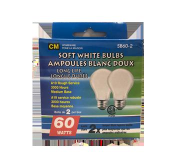 Ampoules blanc doux longue durée 60W, 2 unités