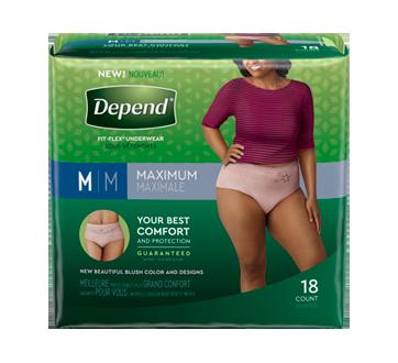 Fit-Flex sous-vêtement d'incontinence pour femmes, 18 unités, moyen, havane