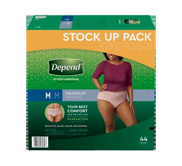Fit-Flex sous-vêtement d'incontinence pour femmes, 44 unités, moyen, havane