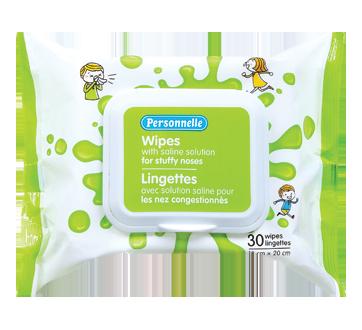 Image du produit Personnelle - Lingettes avec solution saline pour les nez congestionnés, 30 unités