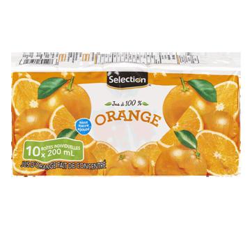 Jus d'orange fait de concentré, 10 x 200ml