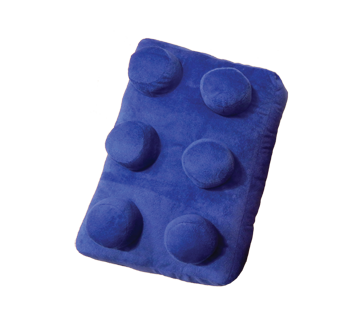 Peluche brique, 1 unité, bleu