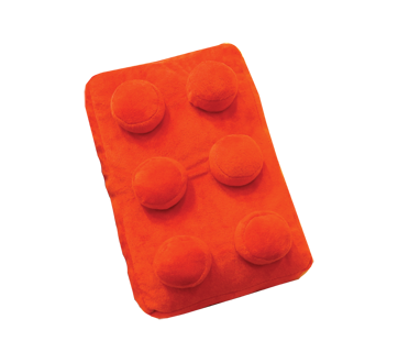 Peluche brique, 1 unité, rouge