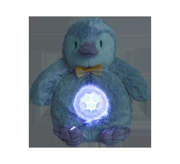 Image 3 du produit Danawares - Peluche musique et lumière pingouin mauve, 1 unité
