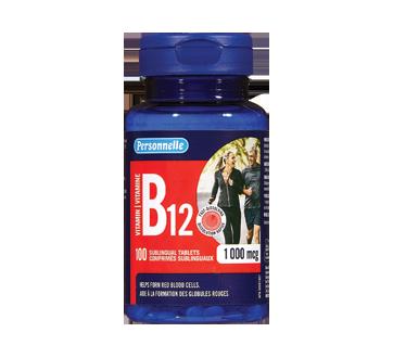 Image du produit Personnelle - Comprimés sublinguaux vitamine B12, 1000 mcg, 100 unités