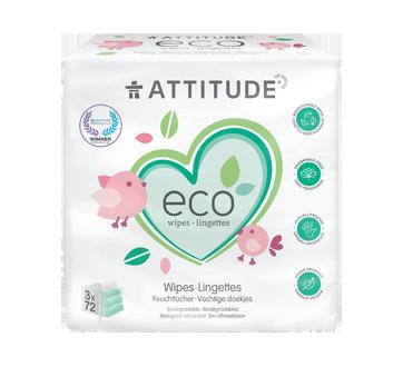 Lingettes 100% biodégradables, 216 unités, sans fragrance