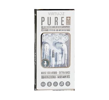 Pure Plus écouteurs stéréo de luxe avec microphone, 1 unité