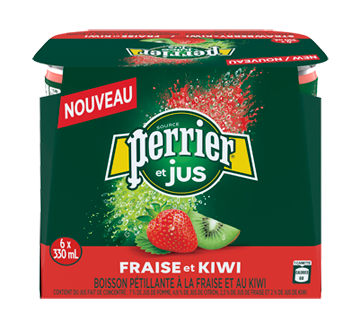 Perrier et jus, 6 x 330 ml, fraise et kiwi