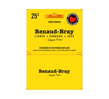 Carte-cadeau Renaud-Bray de 25$, 1 unité
