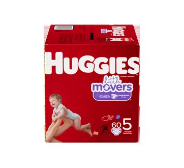 Little Movers couches taille 5 (27 lb et plus), 60 unités
