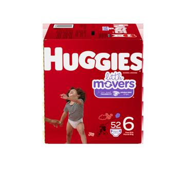 Little Movers couches taille 6 (35 lb et plus), 52 unités