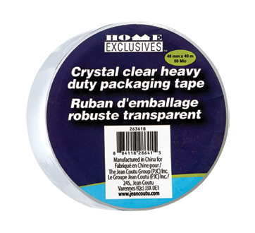 Ruban d'emballage robuste transparent