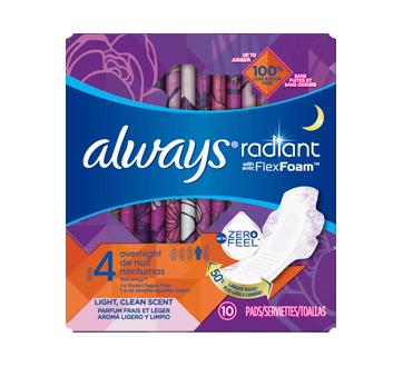 Serviettes hygiéniques de nuit parfumées avec ailes, taille4, 10 unités