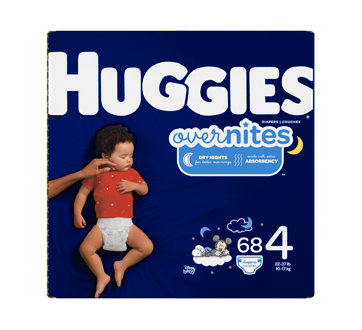 Couches OverNites, 68 unités, taille 4