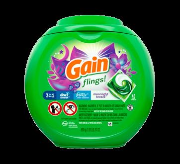 Flings! avec Aroma Boost capsules de détergent à lessive, 42 unités, parfum moonlight breeze