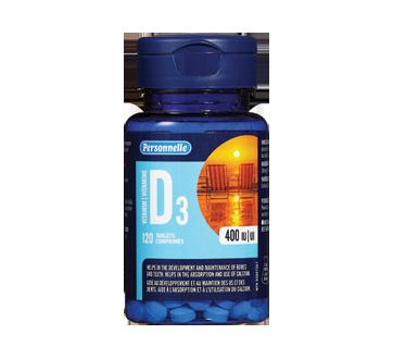Image du produit Personnelle - Comprimés de vitamine D3, 120 unités