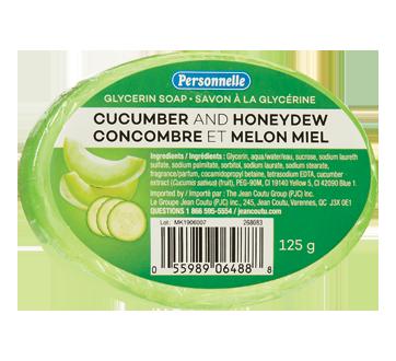 Savon à la glycérine, 125 g, concombre et melon miel