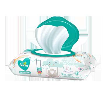 Lingettes pour bébés Sensitive, non parfumées, 56 unités