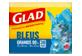 Vignette du produit Glad - Grands sacs à ordures, 30 unités, bleu