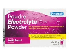 Image du produit Personnelle - Poudre électrolyte, 10 x 5,1 g, Tutti Frutti