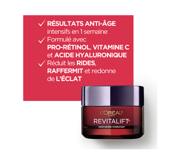 Image 2 du produit L'Oréal Paris - Revitalift Triple Power LZR crème de jour anti-âge avec pro-rétinol, vitamine C et acide hyaluronique, 50 ml