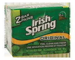 Image du produit Irish Spring - Savon désodorisant, 2 x 90 g, original