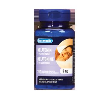 Image du produit Personnelle - Comprimés sublinguaux de mélatonine, 5 mg, 200 unités