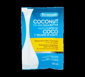 Traitement réparateur pour les cheveux, 50 ml, huile de noix de coco et beurre de karité