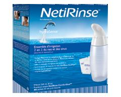 Image du produit HydraSense - Trousse d'irrigation du nez et des sinus 2 en 1 NetiRinse