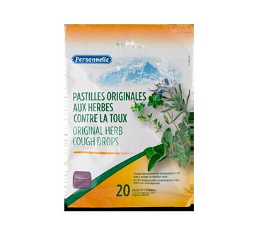 Image du produit Personnelle - Pastilles originales aux herbes contre la toux, 20 unités