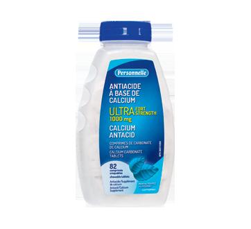 Image du produit Personnelle - Antiacide à base de calcium, 82 unités, menthe poivrée