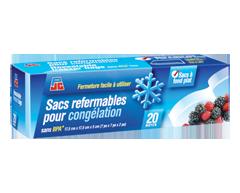 Image du produit PJC - Sacs refermables pour congélation, 20 unités, moyen