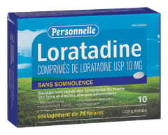 Image du produit Personnelle - Loratadine, 10 Comprimés
